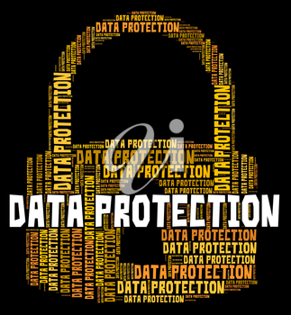 Data Protection Showing Password Secured And Information