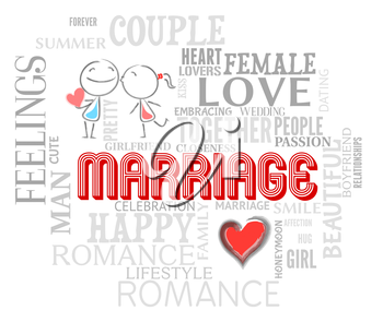 Marriage Words Representing Lovers Fondness And Loved