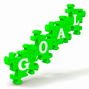 Goal Puzzle Shows Business Targets, Objectives And Aims