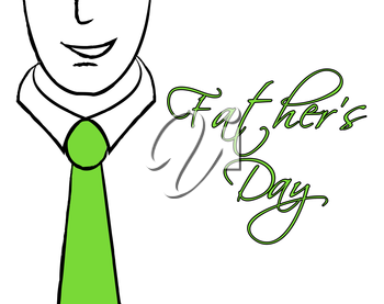 Fathers Day Tie Showing Party Parties And Parenting
