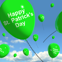 St Patrick's Day Balloons Showing Irish Party Celebration Or Festivals