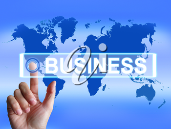 Business Map Representing International Commerce or Internet Company