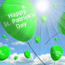 St Patrick's Day Balloons Showing Irish Party Celebration 3d Rendering