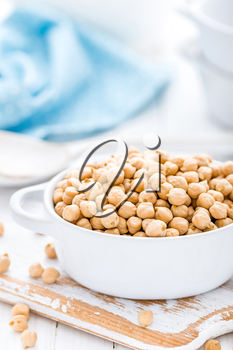 Chickpea on white background
