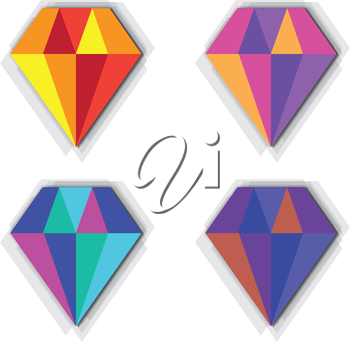 Diamond Icon Design, AI 10 support.
