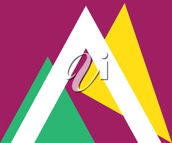Triangle Design Element with Background.