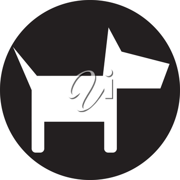 Dog Icon Design Concept, EPS 10 supported.