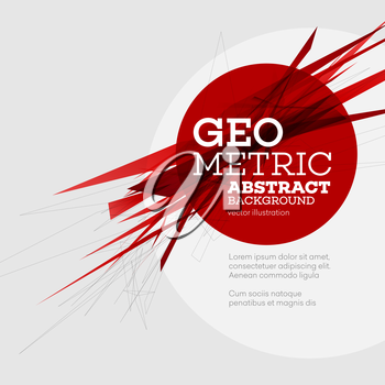 Vector Abstract geometric colorful background. For design flyer, cover, website and brochure