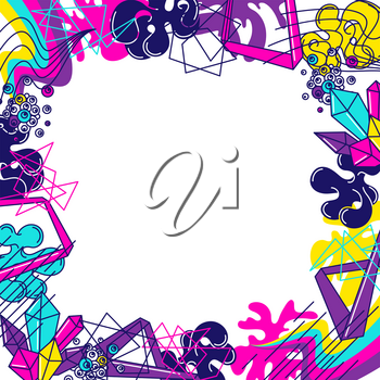 Trendy colorful background. Abstract modern color elements in graffiti style.