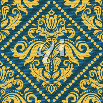 Damask vector classic pattern. Seamless abstract background with repeating elements. Orient background