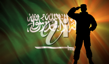Flag with original proportions. Flag of the Saudi Arabia