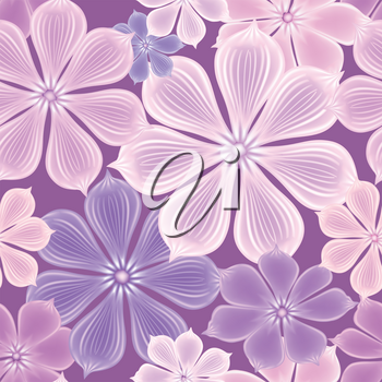 Flowers seamless background. Floral seamless texture with flowers.