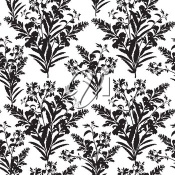 Floral seamless pattern. Flower background. Floral tile fall texture with flowers Ornamental flourish garden cover for card design