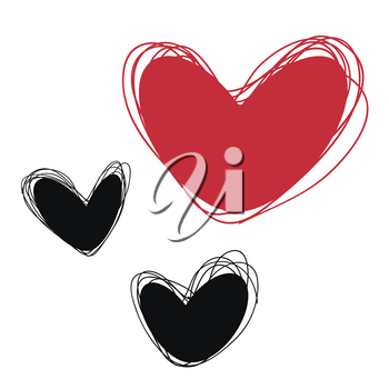 Heart Tags for inscriptions. Heart Labels for products. Heart Tags shares, discounts. The campaign, selling logos. Heart Doodle tags