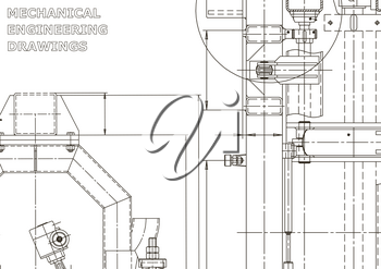 Mechanical engineering drawing. Machine-building. Computer aided design system