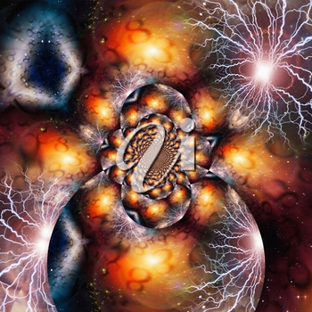 Modern abstract painting. Fractal of Eternity