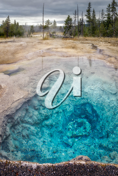 Firehole Spring in Yellowstone National Park