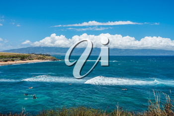 A view of the water at Hookipa Beach Park on Maui, Hawaii.