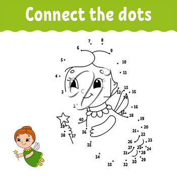 Dot to dot. Draw a line. Handwriting practice. Learning numbers for kids. Education developing worksheet. Activity page. Game for toddler and preschoolers. Isolated vector illustration. Cartoon style.